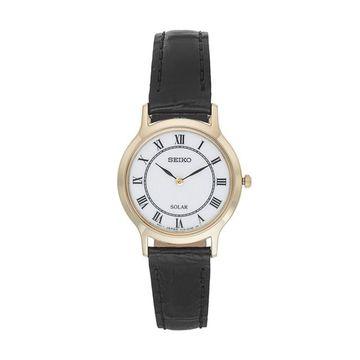 Seiko Women's Core Leather Solar Watch - SUP304