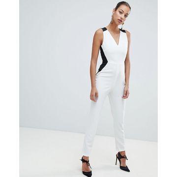 Vesper monochrome tailored jumpsuit