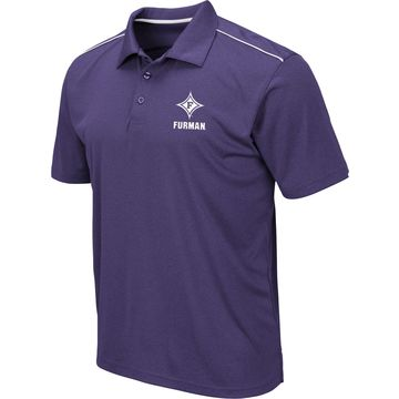 Colosseum Men's Furman Paladins Purple Eagle Polo
