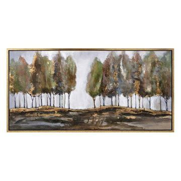 Imax Pine Wood And Ps Moulding Wall Art With Multi-Color Finish 76351