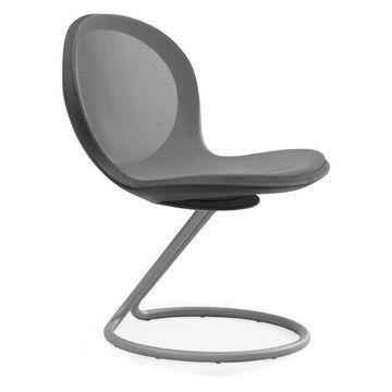 Ofm Net Series Circular Base Chair, Gray