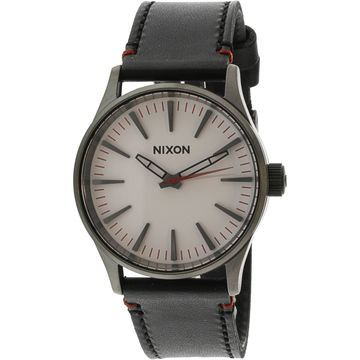 Nixon Men's Sentry 38 Leather A377486 Black Quartz Fashion Watch