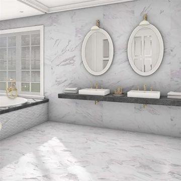 SomerTile 12.875x25.625-inch Marmol Carrara Porcelain Floor and Wall Tile (6 tiles/14.15 sqft.)
