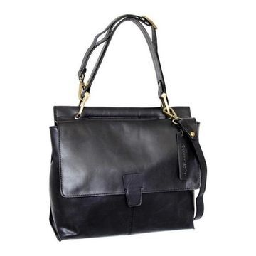 Nino Bossi Women's Jania Leather Shoulder Bag Black - US Women's One Size (Size None)