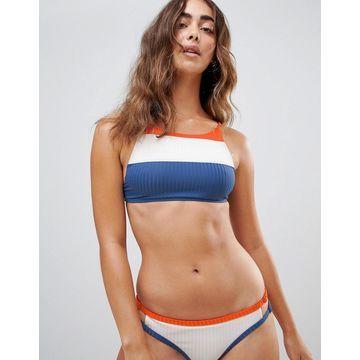 RVCA July Color Block Crop Bikini Top