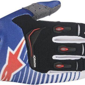 Alpinestars 2017 Techstar Gloves - Blue White Red