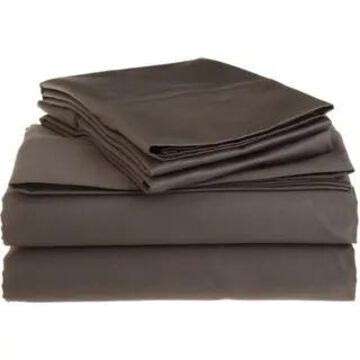 Superior Egyptian Cotton 1200 Thread Count Deep Pocket Bed Sheet Set (California King - Charcoal)