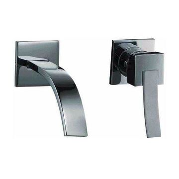 ALFI Brand AB1256-BN Brushed Nickel Single Lever Wallmount Bathroom Faucet