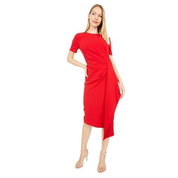 Badgley Mischka Asymmetrical Ruffle Dress