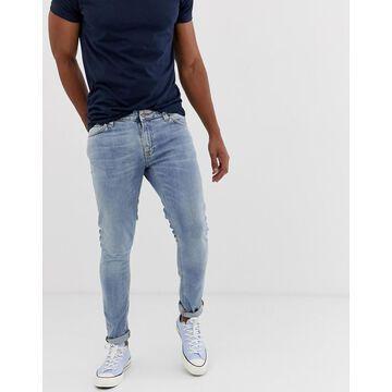 Nudie Jeans Co Skinny Lin skinny fit jeans in light blue power