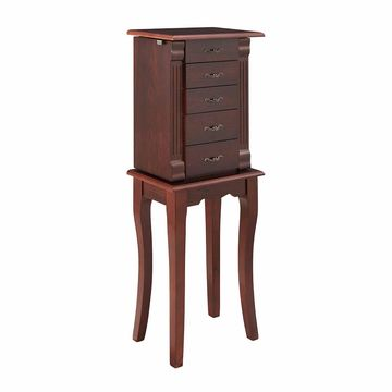 Linon 5-Drawer Jewelry Armoire