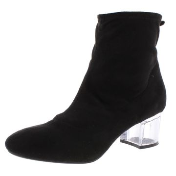 Bar III Womens Lacy Metallic Ankle Booties