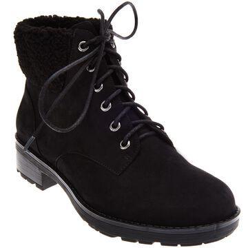 Vionic Lace-up Boots with Faux Fur Trim - Lolland