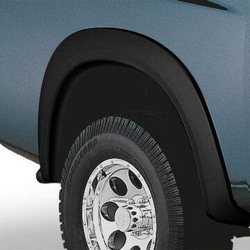 2011 Nissan Titan Bushwacker Extend-a-Fender Style Fender Flares in Smooth Black, Rear Set (2 Piece)