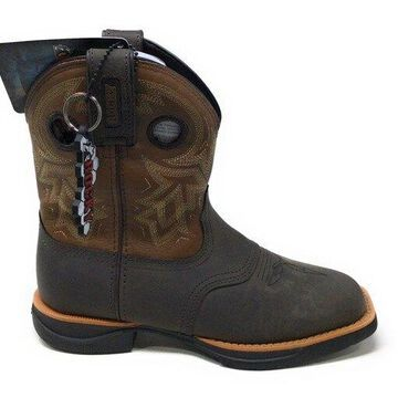 Rocky Women's RKW0220 Western Boot, Dark Brown and Tobacco, 6 M US