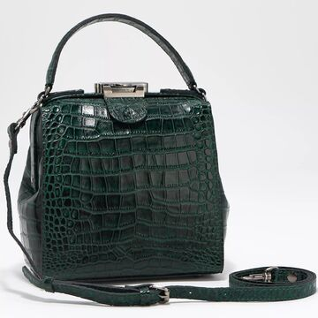 Patricia Nash Leather Croc Embossed Nela North/South Frame Tote