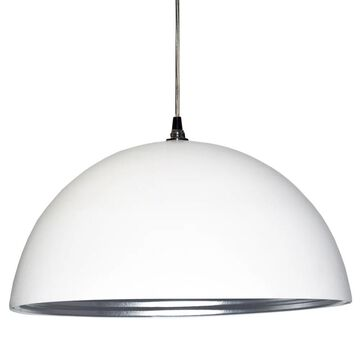 Dainolite 1-light Pendant in Matte White Silver