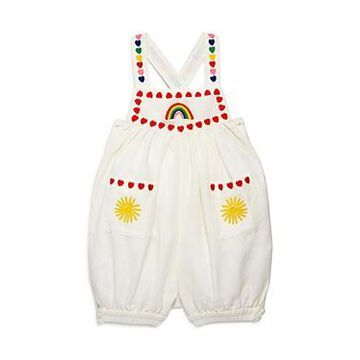 Stella McCartney Girls' Linen Embroidered Romper - Baby