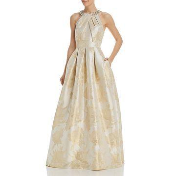 Eliza J Womens Halter Formal Evening Dress