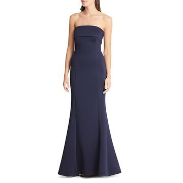 Eliza J Womens Strapless Mermaid Evening Dress