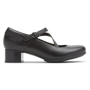 Aravon Womens Provence Portia Ii Mary Jane Heel - Size 9 2E Black