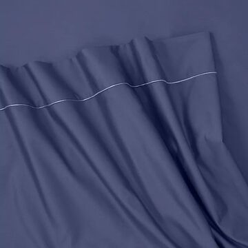 Martex Supima Cotton 700-Thread Count Sheets & Pillowcases, Dark Blue, FULL SET