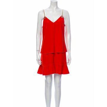 V-Neck Mini Dress Orange