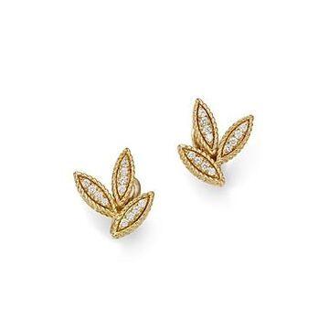 Roberto Coin 18K Yellow Gold Diamond Petals Diamond Earrings - 100% Exclusive