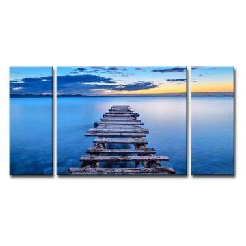 Ready2HangArt 'Pier' 3-Piece Canvas Wall Decor Set