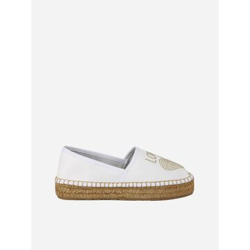 Love Moschino Leather Espadrilles With Studs Detail