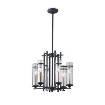 Feiss 6-Light Antique Forged Iron Chandelier