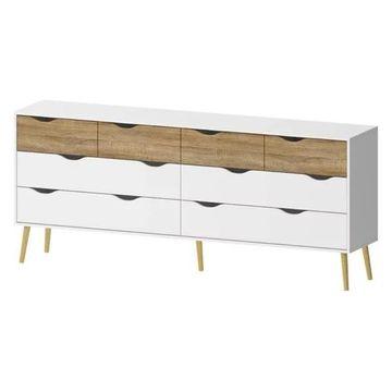 Pemberly Row 8-Drawer Dresser, White and Oak