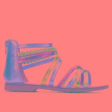 Self Esteem Little Kid & Big Kid Iliana Children's Shoe (Multi-color - Size 3 - Little Kid - Faux Leather)