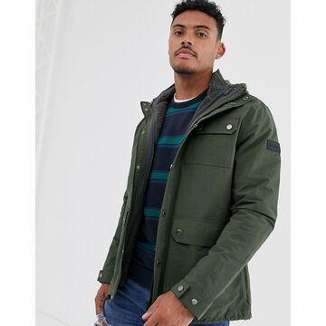 Farah Blackpool jacket with detachable fleece lining in green
