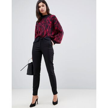Y.A.S ecco tailored ankle length cigarette pants in black