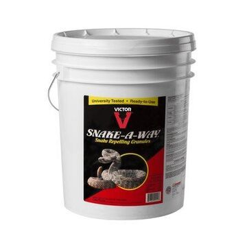 Victor Snake-A-Way Snake Repelling Granules, 28 Lb Bucket