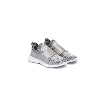 melange-effect slip-on sneakers