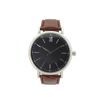 Olivia Pratt Clockwork Unisex Brown Leather Bracelet Watch-8920brown