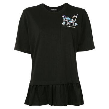 sequin-logo T-shirt