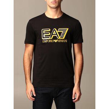 Ea7 T-shirt Ea7 Cotton T-shirt With Printed Logo