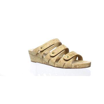 VANELi Womens Karen Natural Cork Open Toe Heels Size 11