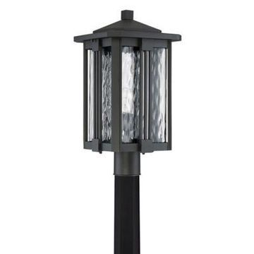 Quoizel Everglade Post Outdoor Lantern in Earth Black