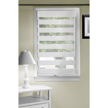 Achim Celestial 32-in Linen Sheer Cordless Roller Shade Polyester in Off-White