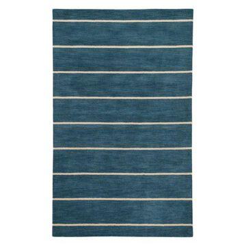 Jaipur Living Ketch Handmade Stripe Blue/Beige Area Rug, 8'x10'