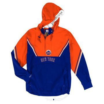 Men's New York Mets Anorak Half-Zip Pullover
