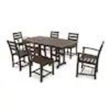 Trex Outdoor Furniture Monterey Bay 7-Piece Brown Plastic Frame Patio Set