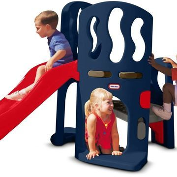 Little Tikes Hide Slide Climber Outdoor Wavy Wide Smooth Rides Plastic Unisex