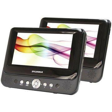 Sylvania SDVD8737A 7 in. Dual-Screen Portable DVD Player