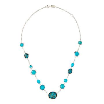 Rock Candy Mixed-Stone Necklace in Turquoise