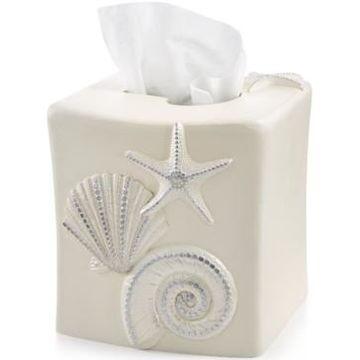 Avanti Bath, Sequin Shells Tissue Cover Bedding